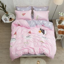 Summer Bedding Sets Pink Watermelons Duvet Cover Double Sided Pillowcase In King Size Full Bed Linings Comforter Bedding Sets