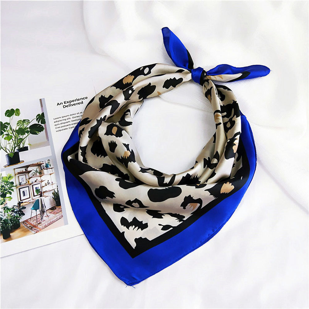 US $1 93 49% OFF|2019 Newest Style Women Leopard Scarves Square Silky Feel  Satin Scarf Head Neck Wrap Hair Tie Band 4 Colors-in Women's Scarves from