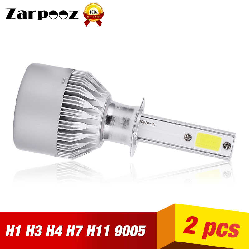 Zarpooz H7 LED Car Headlight Bulb Auto LampH1 H3 H7 LED H11 9005 9006 9012 72W 8000Lm 6500K 3000K COB 12V LED HB4 Car Bulb