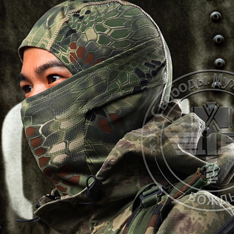 Mask Balaclava Wind-proof Quick-drying Hood Face Military Hunting Outdoor Boa Style Tactical Headgear Rattlesnake Balaclava