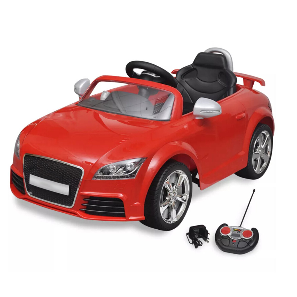VidaXL Children's Electric Car Child Toy Audi TT RS Sporty Style Red With Remote Control Children Toys Rechargeable Easy Drive