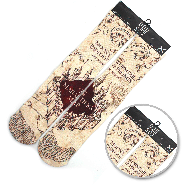 "Wellcomics 4x16""in Harri Potter Hogwarts School Marauder's Map Symbol Cotton Socks Colorful Stockings Tights Cosplay Costume Hot"