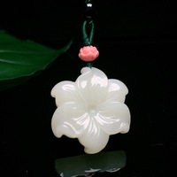 2018 Real Direct Selling Women Titanium Chakra Buda Yu Xuan, Hetian Bauhinia Pendants Necklace Pendant Jewelry With Certificate