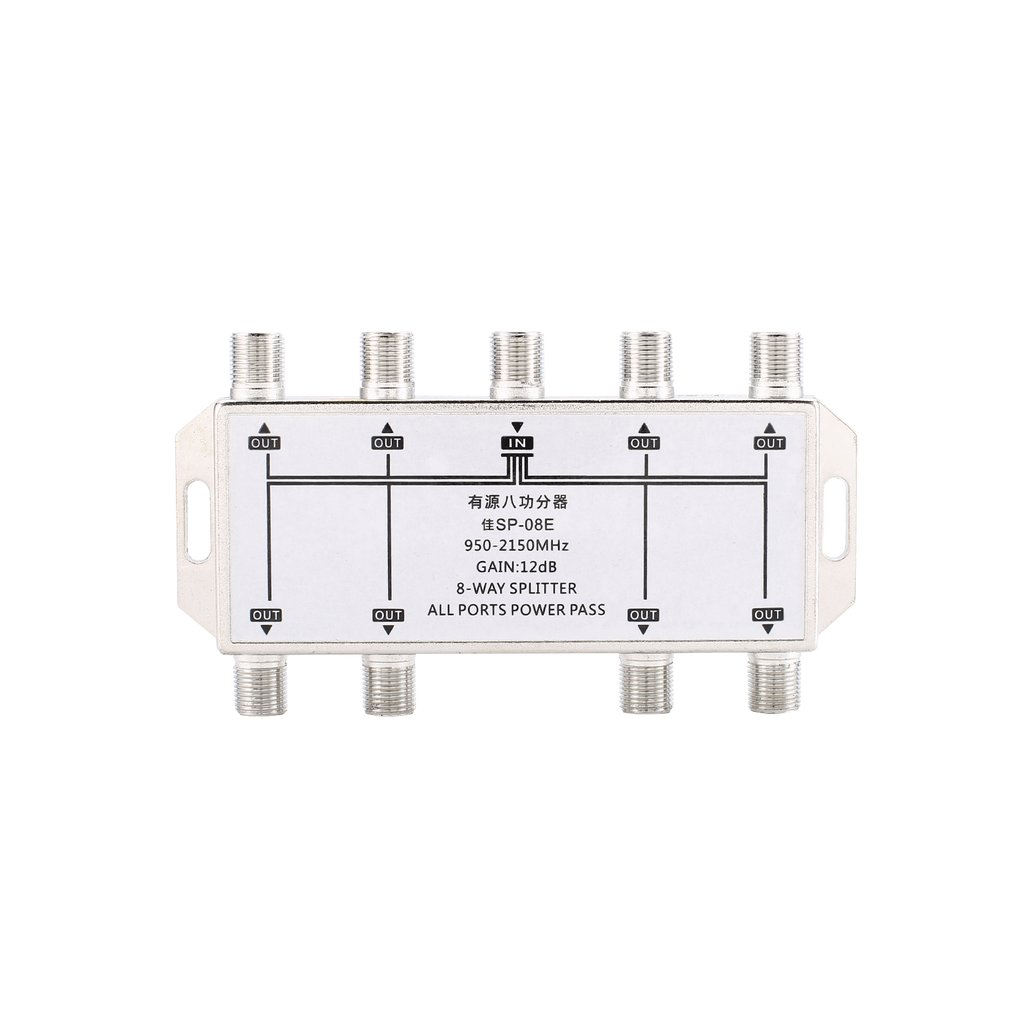 8 way port tv signal satellite sat coaxial diplexer combiner splitter combiners cable switch switcher for tv signal splitter in satellite tv receiver from  [ 1010 x 1010 Pixel ]