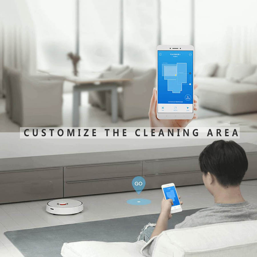 Xiaomi Mi Vacuum Cleaner Roborock S50 S51 S55 Robot Vacuum Cleaner Wet  Mopping Cleaning Mihome Mijia APP Contral Original China