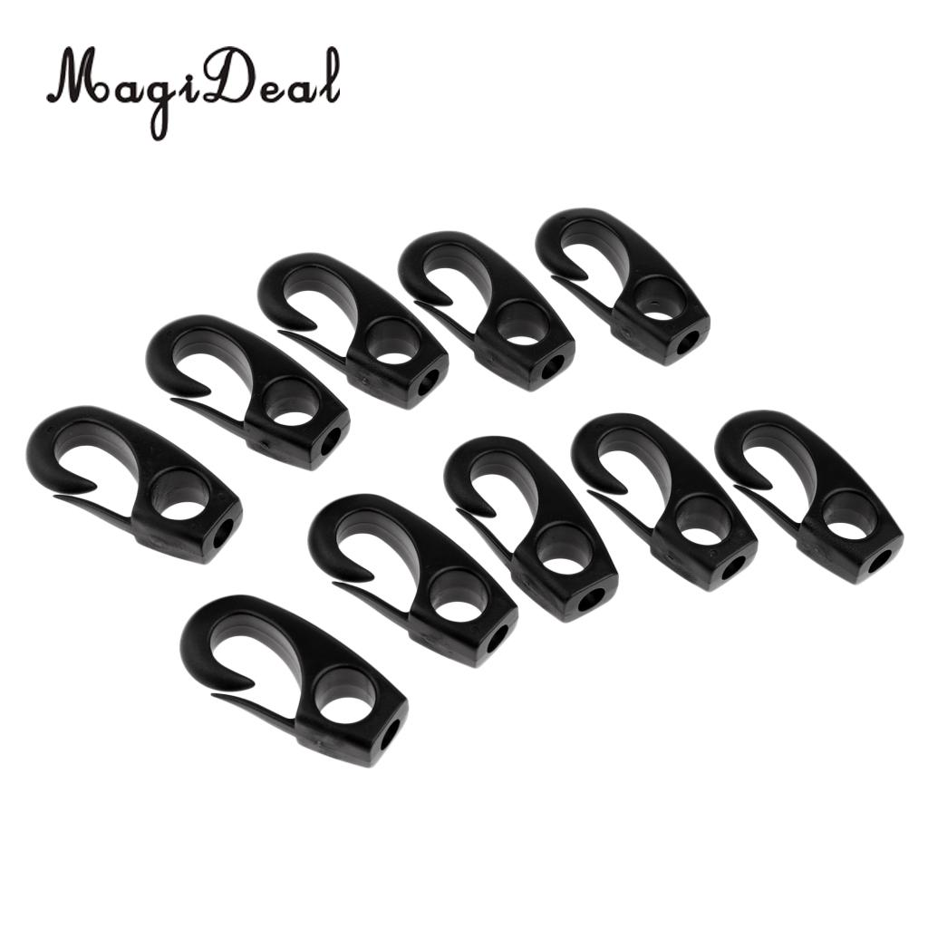 4pcs Strong Durable Nylon Clip Hooks for Kayak 6-7mm Shock Cord Bungee Rope