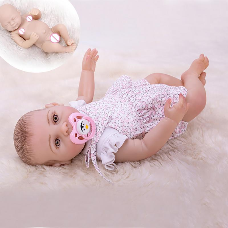 2019 43cm Rebirth Doll Silicone Simulation Baby Doll Full Body Glue Shower Toy For Children Girl Education Supplies2019 43cm Rebirth Doll Silicone Simulation Baby Doll Full Body Glue Shower Toy For Children Girl Education Supplies