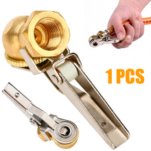 Universal 1pc 1/4 NPT Clip-On Ball Foot Auto Car Air Chuck Tire Tyre Inflator Fitting Kit Brass