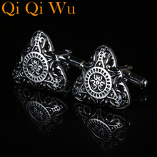 2017 New Luxury Shirt Fathers Day Gift Pattern Cufflink For Mens Brand Cuff Buttons links High Quality Abotoaduras Jewelry