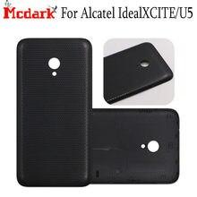 Mcdark 5,0 pulgadas para Alcatel IdealXCITE nueva cubierta trasera de la batería de plástico para Alcatel U5 5044D