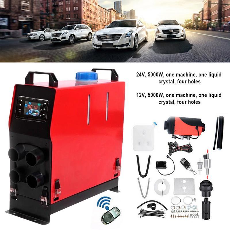 5000 W 12/24 V Un Trou De Voiture chauffage soufflant Liquide Cristal Unité Auto Parking Carburant réchauffeur d'air Carburant Fan Auto chauffage Accessoire