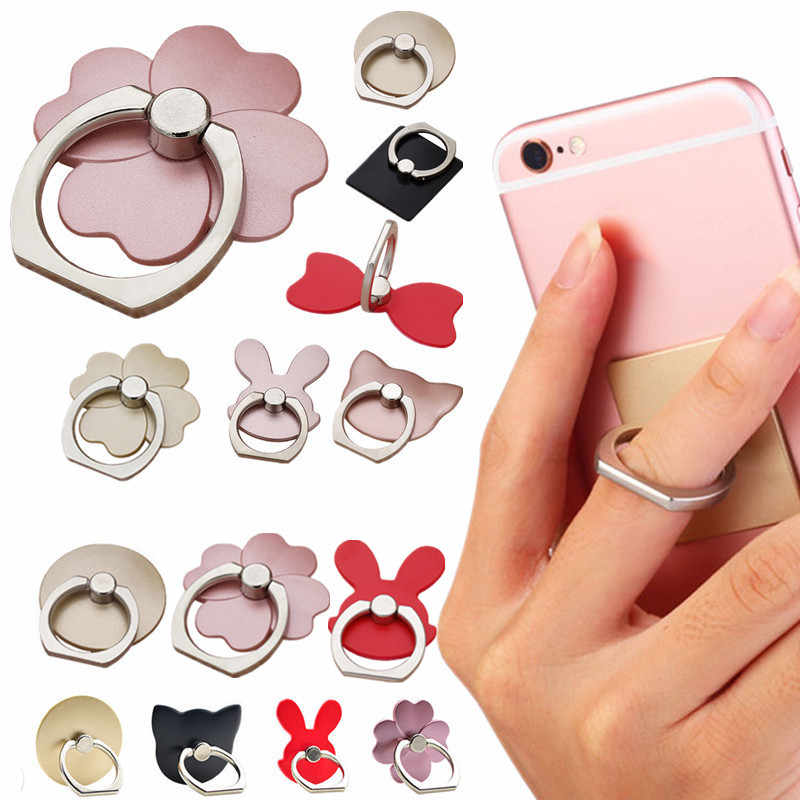 NEW Finger Ring Mobile Phone Smartphone Stand Holder For iPhone X 8 7 6 Plus 5S Smart Phone IPAD MP3 Car Mount Stand For Samsung