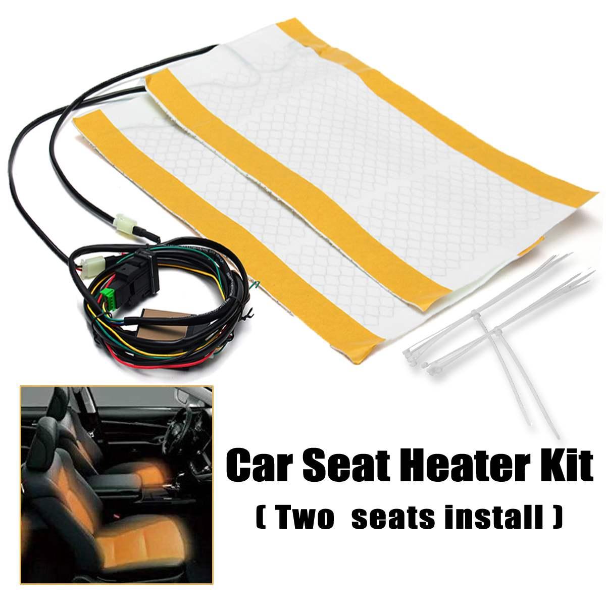 Kit de chauffage de siège de voiture DC 12 V 480x280mm 2 places pour Toyota Prius Corolla Camry Yaris landcuriser Automobiles housses de siège