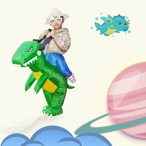 Image 5 - 3D Stand Riding Inflatable Dinosaur Costume Halloween Dress Cosplay Suit Horse Cowboy Costume for Kids Adult Party Prop Supplies