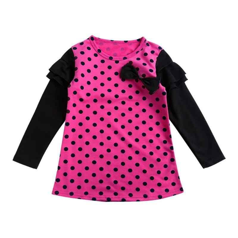 Весенне-Осенняя детская одежда с длинными рукавами для девочек, повседневное школьное платье для девочек, милое платье-пачка, Детская праздничная одежда для девочек