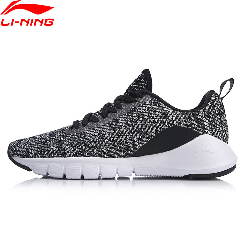 Li-Ning Women FLEX RUN Running Shoes Breathable Flexible Light Weight Sneakers Mono Yarn LiNing Sport Shoes ARKN018 XYP828