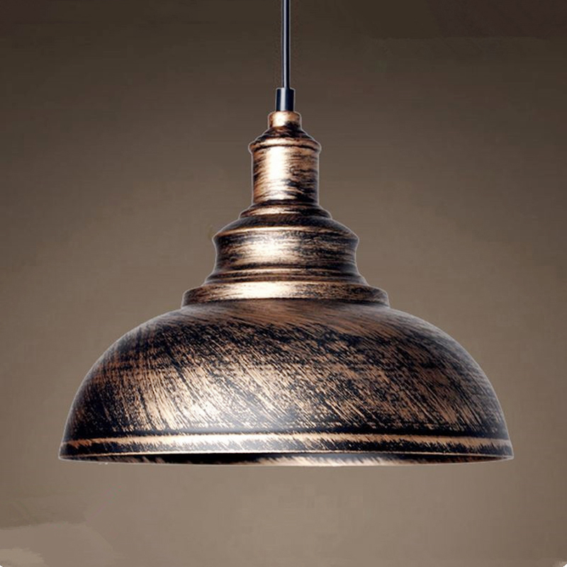 1pcs Vintage Industrial Rustic Pendant Lamp Shade Kitchen Loft Hanging Ceiling Light