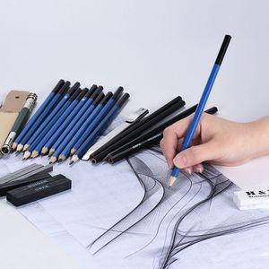 Image 5 - 33 szt. Ołówek profesjonalny rysunek ołówek do szkicowania zestaw szkic grafitowy węgiel ołówki kije gumki papiernicze rysunek Suppli
