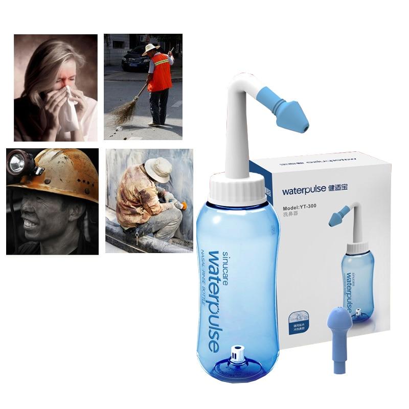 Waterpulse Nose Cleaner 300ml Neti Pot Nasal Wash Adults Children Nose Wash System sinus Irrigators(China)