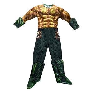 Image 2 - Disfraz de Aquaman dorado para niños, disfraz de músculo, superhéroe, Halloween