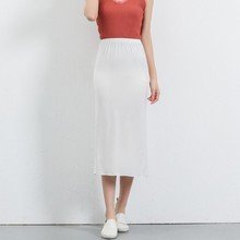 Modal comfortable and breathable backing skirts Woman Anti-lighting bottoming summer hip package solid women