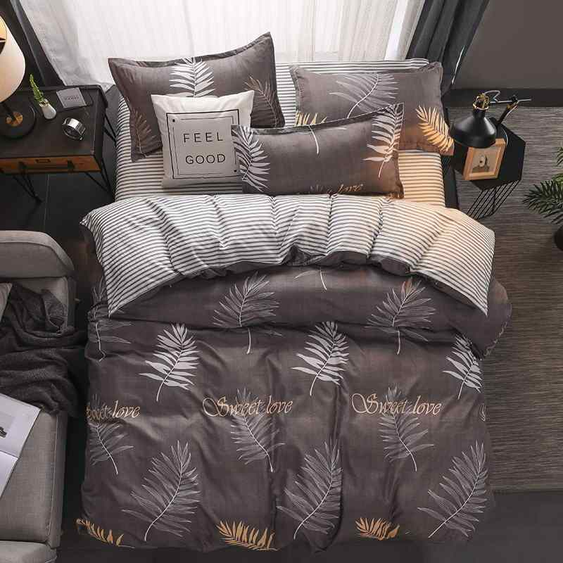 Yellow duck Soft comfortable 4pcs Bedding Set Bed Linen Bed Set Sheet Duvet Cover Pillowcase king queen full twin size 29