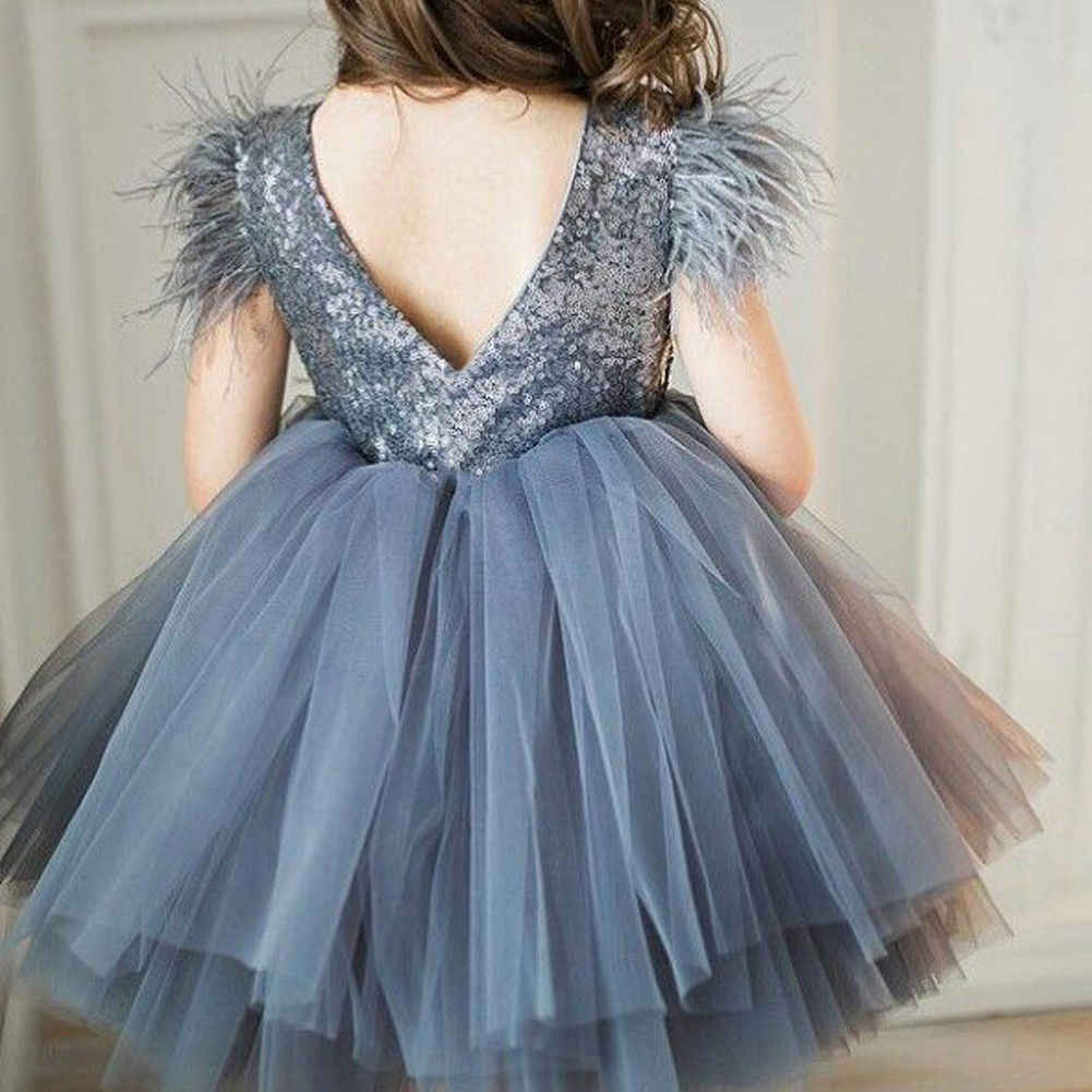 Toddler Baby Girls Princess Chiffon Dress Sequins Party Wedding  Kids Dresses For Girls Summer New 2019 Infant Backless Clothes