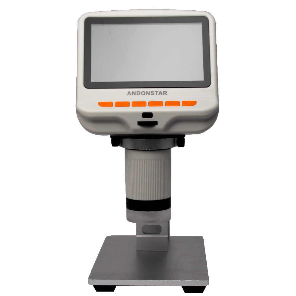Andonstar AD105S Microscope avec support à distance 4.3 pouces 600X FHD 1080 P numérique USB Microscope intégré lames d'affichage mobile Bl