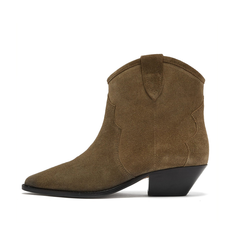 2019 Genuine Leather Brown Black Ankle Boots Women Chunky Heels Spring Autumn Short Boots Slip On Classic Chelsea Botas2019 Genuine Leather Brown Black Ankle Boots Women Chunky Heels Spring Autumn Short Boots Slip On Classic Chelsea Botas