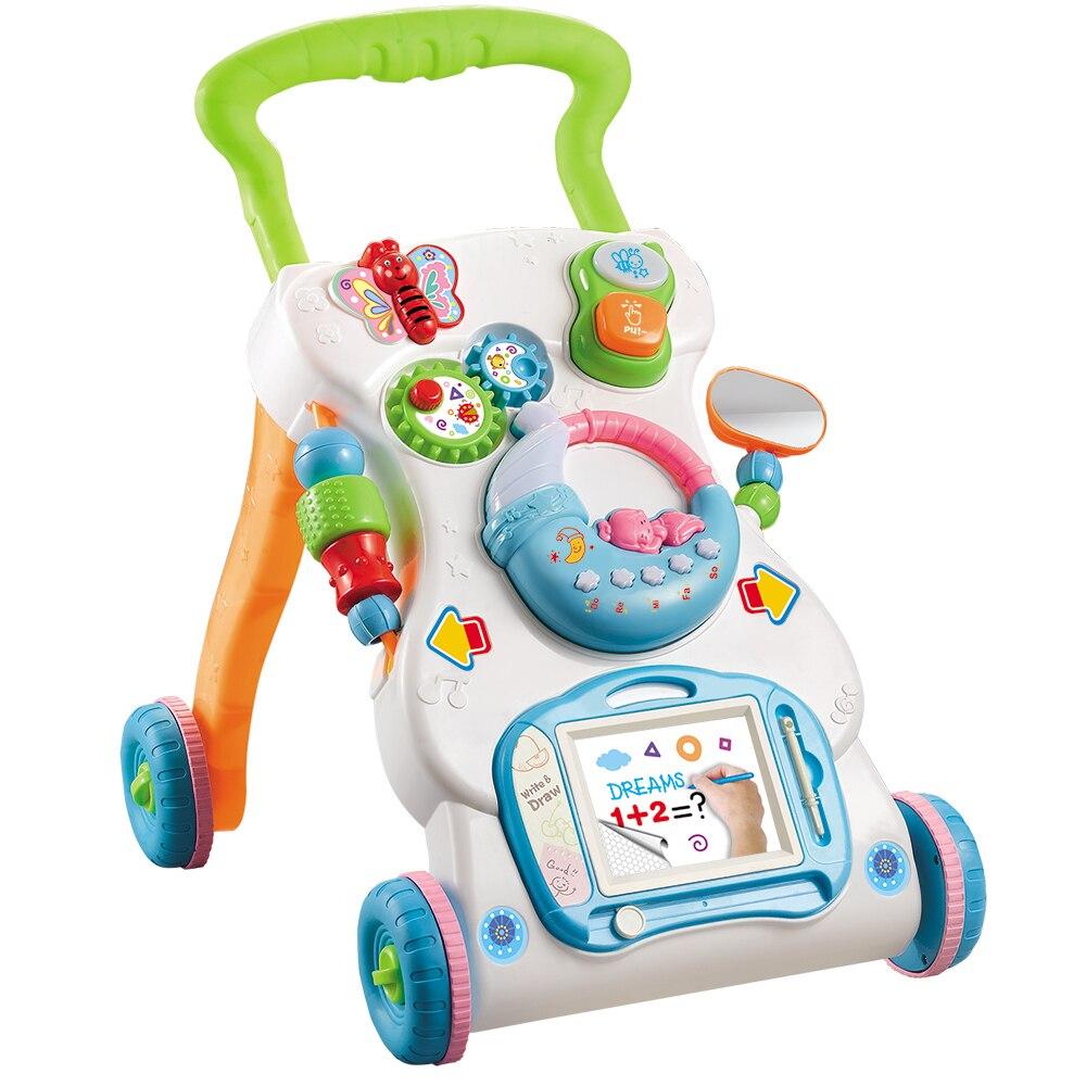 Schneidig Multifunktionale Baby Walker Kleinkind Trolley Sitzen-zu-stand Abs Walker Mit Einstellbare Höhe Und Musical Ein Bereicherung Und Ein NäHrstoff FüR Die Leber Und Die Niere