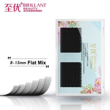 BRILLANT Mixed Eyelashes Extension Density Row Grafting Beauty Salon Use Plant Flattened Hair Light Black Soft False