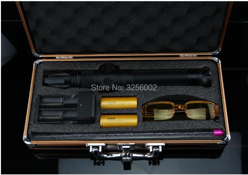 Новый 450nm Высокая мощность 100000 м синие лазерные указки 1000 Вт фонарик спичка свеча горит сигареты нечестивых оптовая продажа лазер Охота