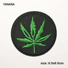 Leaf shape Embroidered Patches for Clothing DIY Stripes Applique Clothes Stickers Iron on Badges фонарь nite ize radiant 400 r400l 09 r8