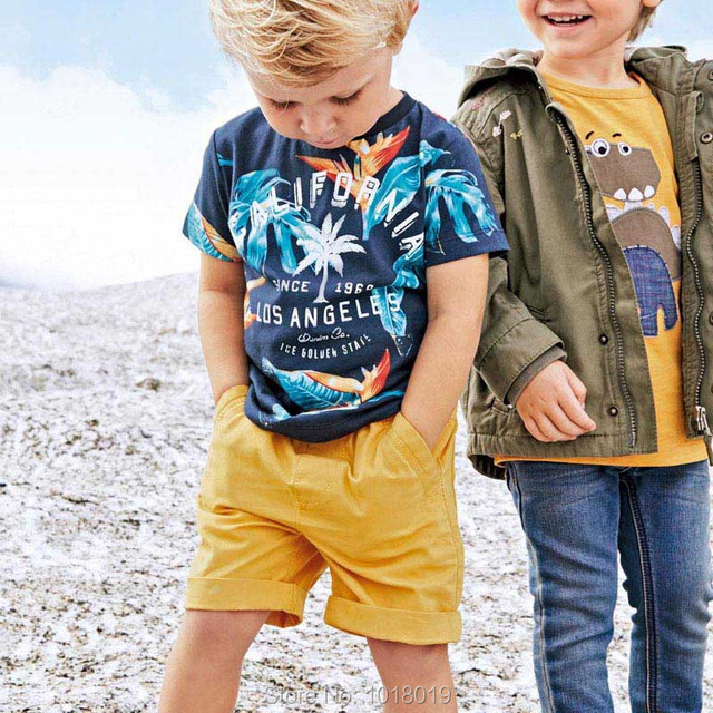 1815eb7cd Baby Boys Clothes Sets Kids Brand Quality 100% Woven Cotton Kids Clothes  Set 2019 Summer