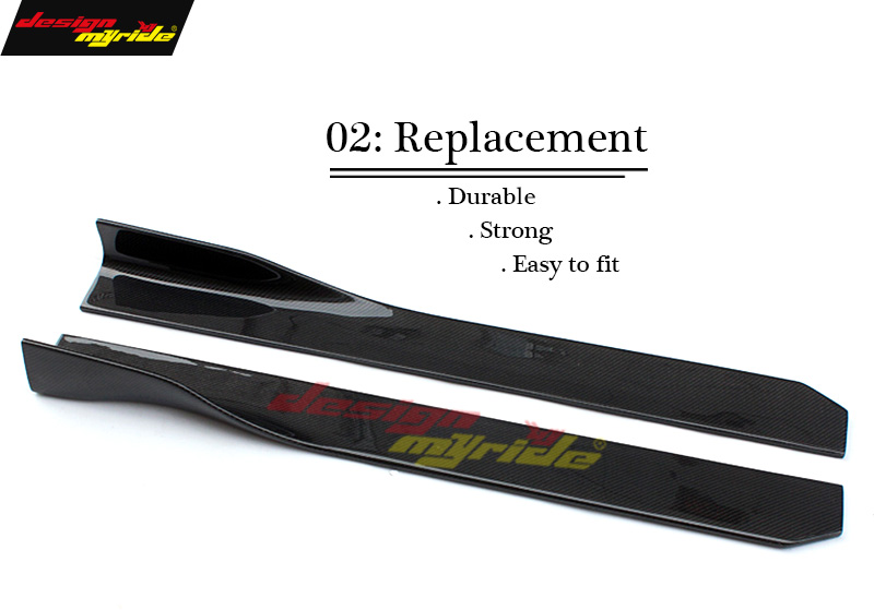 For Mercedes Benz W205 Side Skirt Body Kits Car Styling Carbon fiber C180 C200 C250 C280 C300 C350 350e C400 Side Skirt D Style in Body Kits from Automobiles Motorcycles