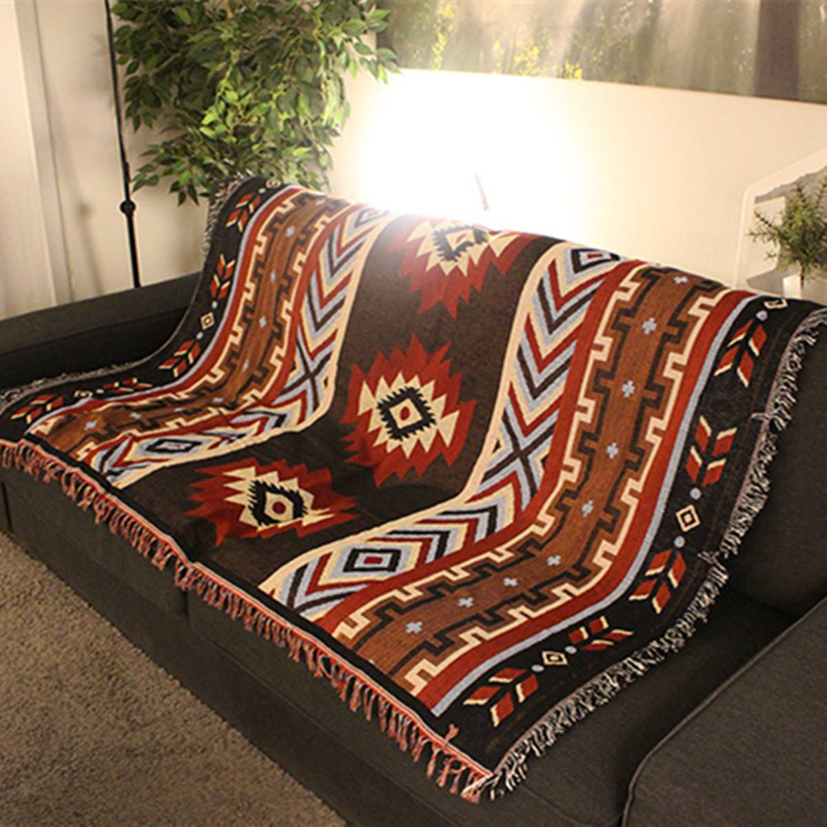 130x160cm Home Decor Aztec Navajo Towel Mat Throw Wall Hanging Cotton Rugs Classic Woven Machine Washable Picnic Sofa Blanket