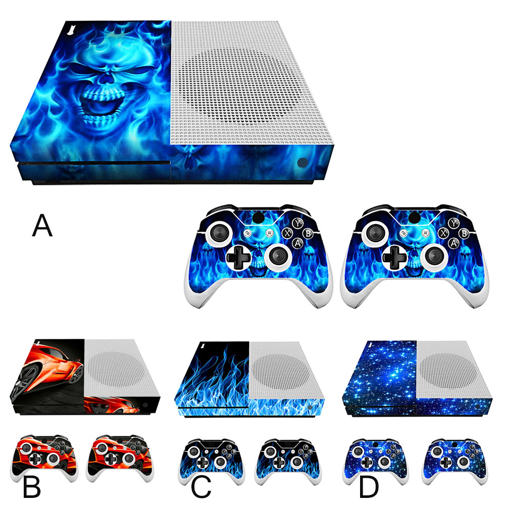 Bevigac Game Controller Handle Case Cover Skin Decoration Sticker Set for Xbox One Slim Console Gamepad Accessories