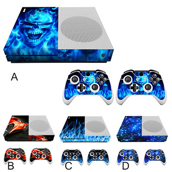 Bevigac Mini Game Machine Controller Host Handle Cover Skin Decoration Sticker Set for Xbox One Slim Console Gamepad Accessories