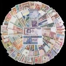 Лот 100 шт. разные мировые банкноты из 30 зарубежных стран, бесплатная доставка, подарочный набор, 100% настоящие оригинальные, UNC