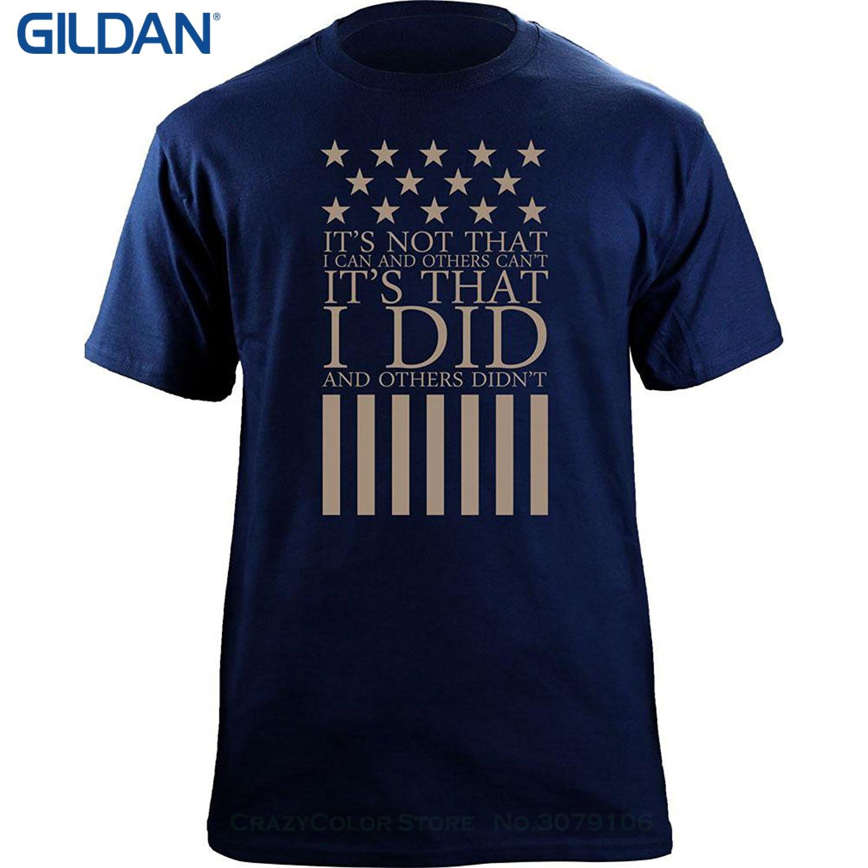 Men Brand Clothihng Top Quality Fashion Mens T Shirt 100%cotton I Did , They Didn't Veteran T-shirt