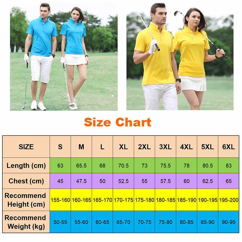 Camisa de golfe de poliéster camisa de golfe de manga curta camisa de golfe respirável S-6XL
