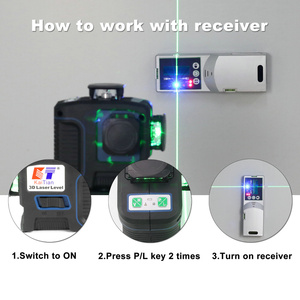 Image 4 - Kaitian 360 Laser Level 532nm Self Leveling Vertical Horizontal Super Powerful Nivel Lasers Receiver Green 12 Lines Lazer Levels