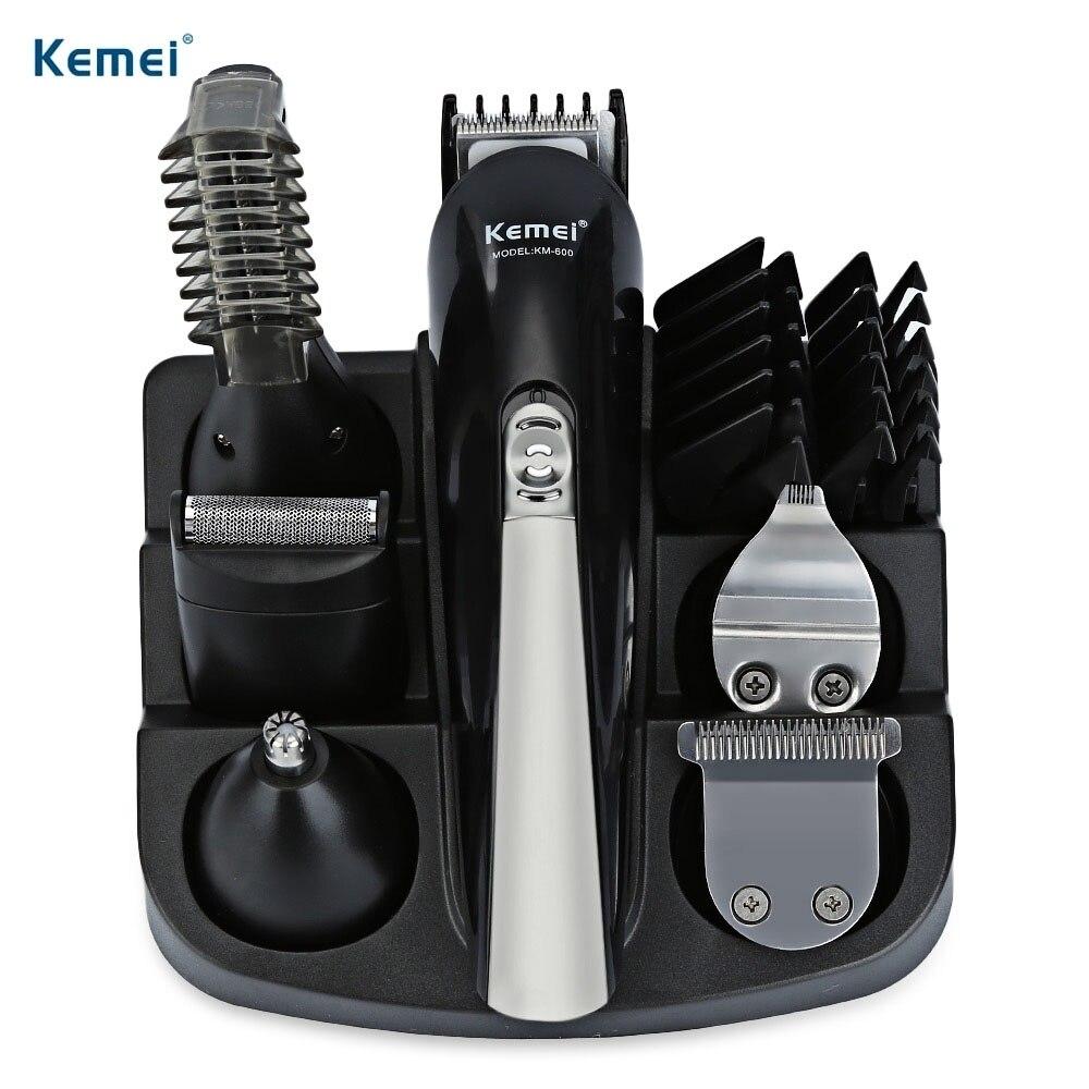 Kemei KM-600 Professionnel Tondeuse 6 Dans 1 Cheveux Clipper Rasoir Ensembles Électrique Rasoir Tondeuse à Barbe Coupe De Cheveux machine
