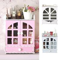 Cosmetic Storage Box Drawer Toiletries Makeup Storage Cabinet Fashion Sundries Jewelry Packaging Organizer Container Household