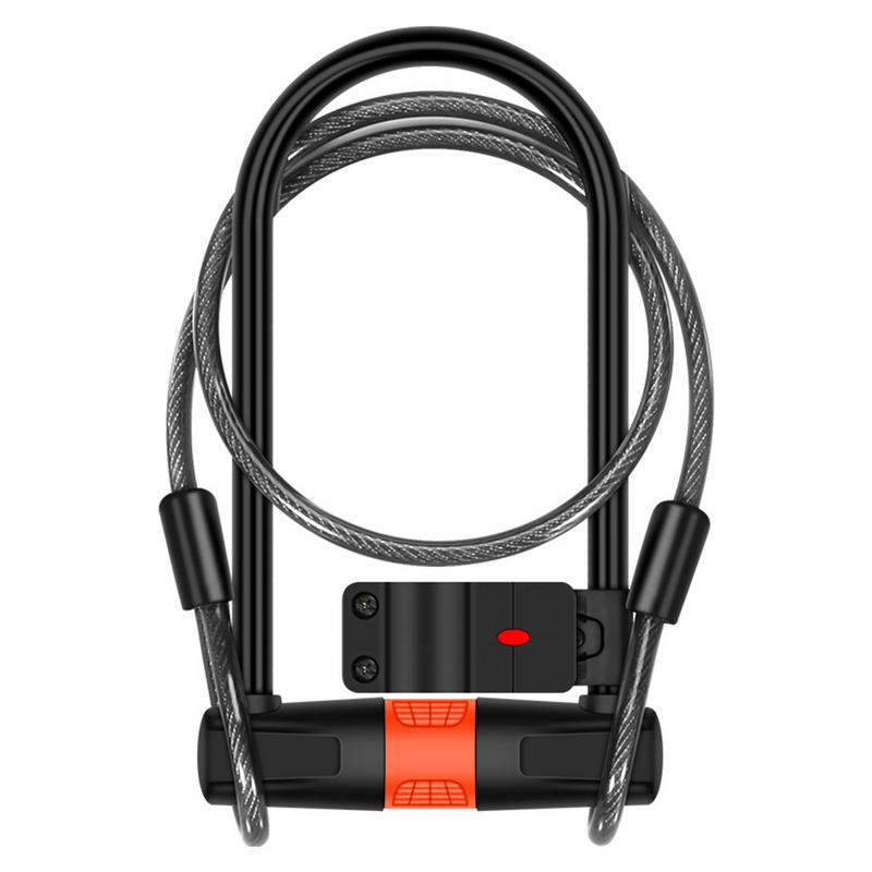 Bicycle Chain Lock Anti Theft Bike U shaped Lock Steel Cable Key Mountain Bike Accessories For