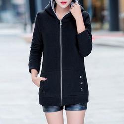 Kobiety moda jesień zima zagęścić sportowe bawełniane płaszcz panie stałe ciepła kurtka z kapturem odzieży wierzchniej kobiet wyściełane parka płaszcz 5