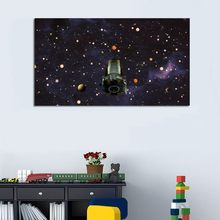 Modern Cartoon Universe Canvas Paintings Print Printed Abstract Space Planets Posters Wall Art Pictures Living Room Home Decor(China)