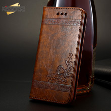 KISSCASE Luxury Vintage Retro PU Leather Case For Samsung S8 S9 Note 9 8 Wallet Plus Capinha Funda