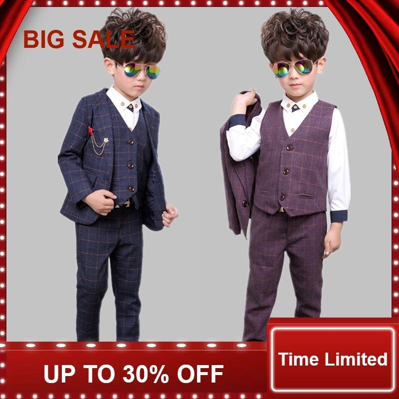 Children Baby Boys Suits Kids Blazer Boys Formal Suit For Weddings Boys Clothes Set Jackets+Vest+Pants 3pcs 2-14YChildren Baby Boys Suits Kids Blazer Boys Formal Suit For Weddings Boys Clothes Set Jackets+Vest+Pants 3pcs 2-14Y