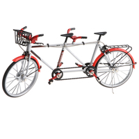 1:10 Alloy Tandem Bike Diecase Model Figure Showcase Display Collection Toy Desktop Ornament Red